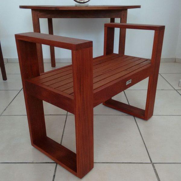Banca individual de madera para exterior- arkideck