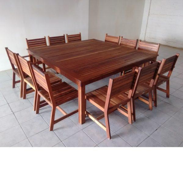 Comedor de madera para terraza de 12 personas- arkideck