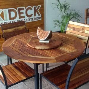 Centro de mesa de madera giratorio- arkideck
