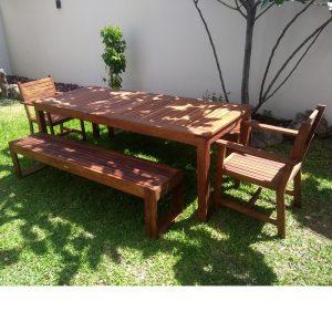 Comedor de madera para jardin de 10 personas- arkideck
