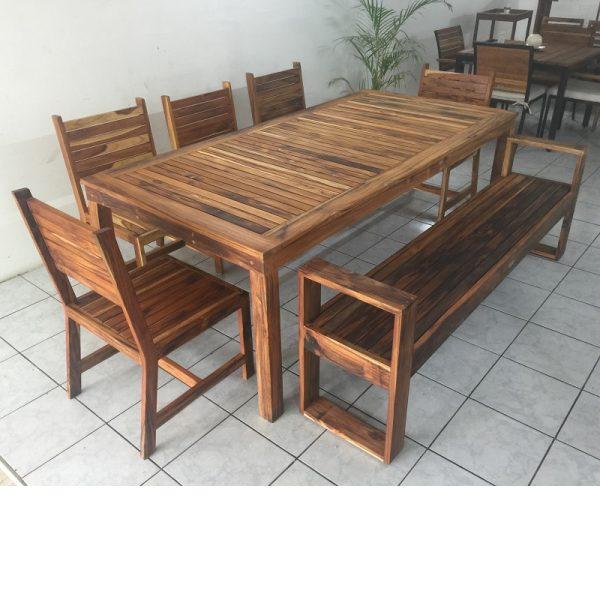 Comedor de madera para terraza de 8 personas- arkideck