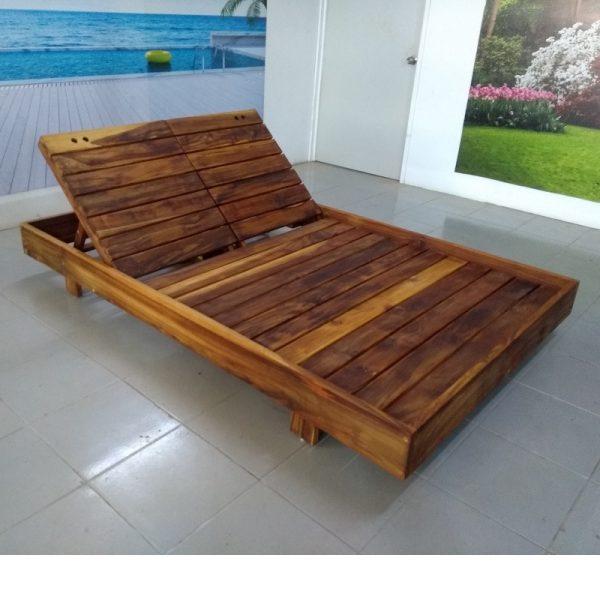Camastro de madera doble- arkideck