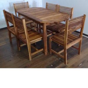 Comedor de madera para terraza de 6 personas- arkideck