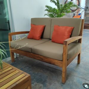Love seat de madera para terraza- arkideck