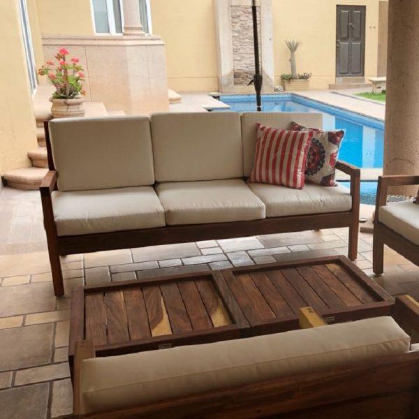 Sofa de madera para terraza- arkideck