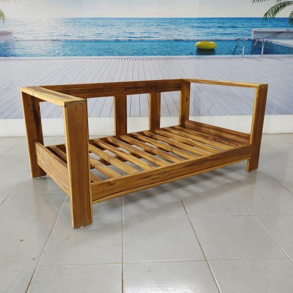 Love seat de madera para exterior- arkideck