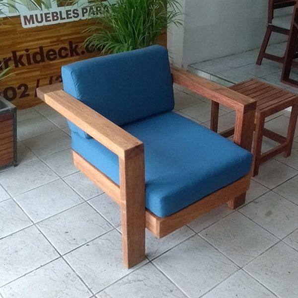 Sillon individual de madera para terraza- arkideck