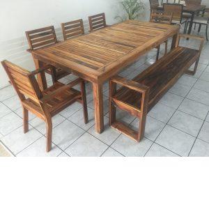 Comedor de madera para jardin de 8 personas- arkideck
